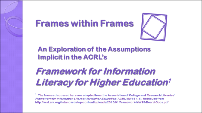 Frames within Frames